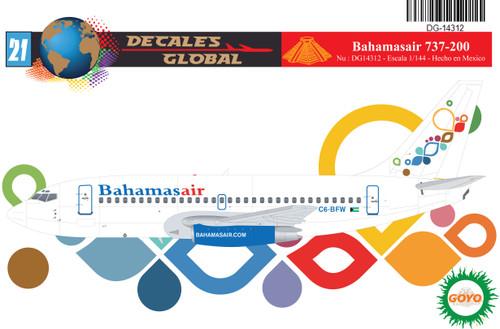 1/144 Scale Decal Bahamasair 737-200