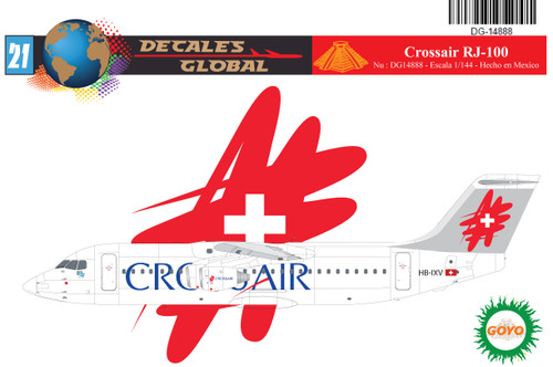1/144 Scale Decal Crossair RJ-100