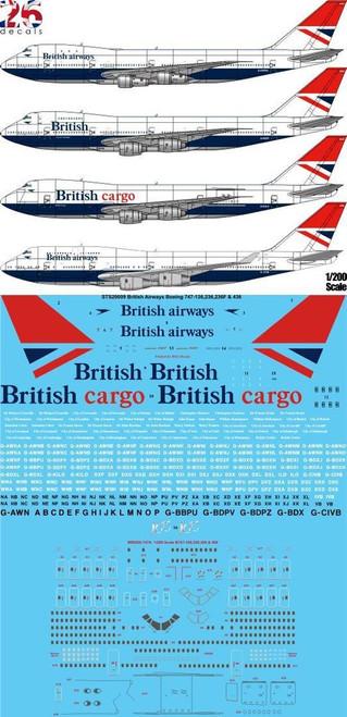 1/200 Scale Decal British Airways Boeing 747-136,236,236F & 436