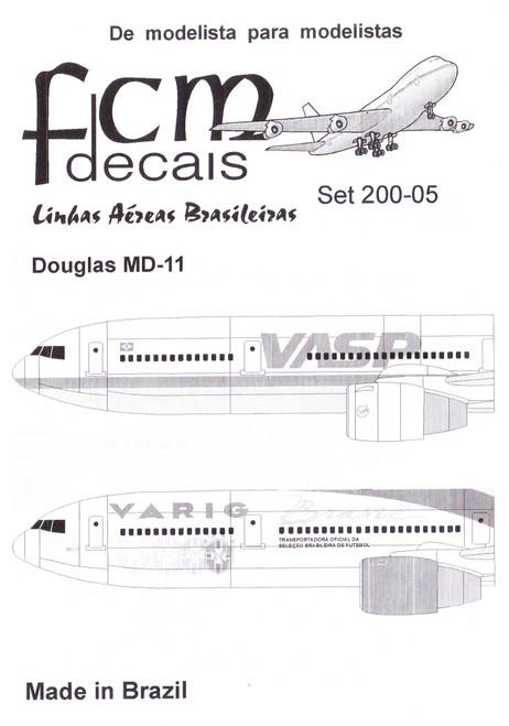 1/200 Scale Decal VASP / Varig MD-11