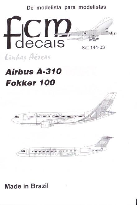 1/144 Scale Decal Passarado A-310 /  TAM F-100