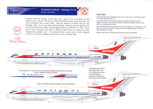 1/144 Scale Decal National 727-100