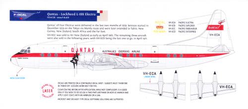 1/144 Scale Decal Qantas L-188 Electra