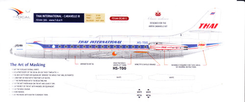 1/144 Scale Decal Thai International Airways Caravelle