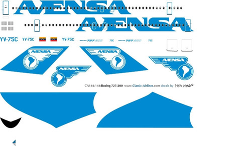 1/400 Scale Decal Avensa 727-200