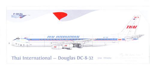 1/144 Scale Decal Thai International Airways DC8-32