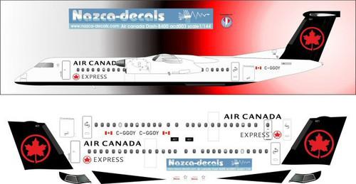 1/144 Scale Decal Air Canada Dash 8 400Q
