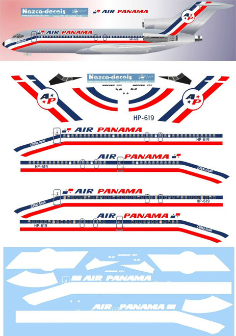 1/144 Scale Decal Air Panama 727-100 V2