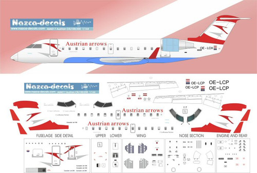 1/144 Scale Decal Austrian Arrows CRJ