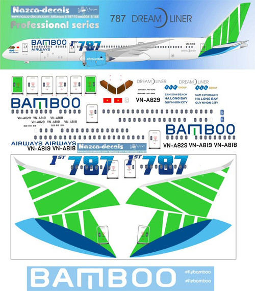 1/144 Scale Decal Bamboo 787