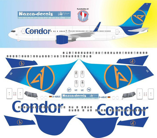 1/144 Scale Decal Condor 767-300 Blue