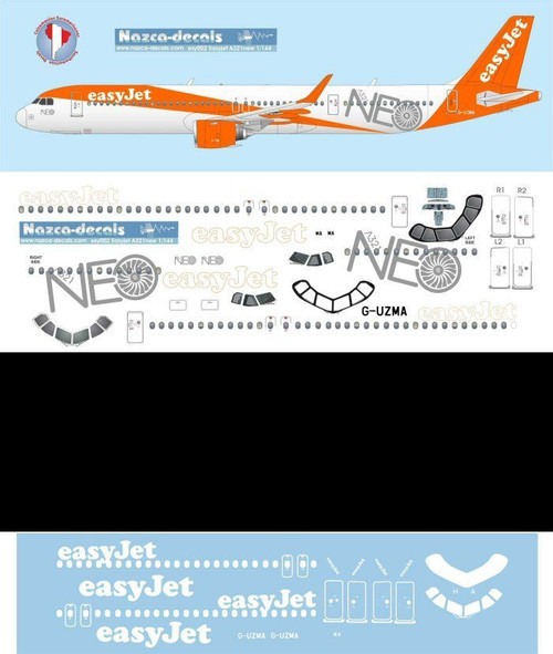 1/144 Scale Decal EasyJet A-321 NEO