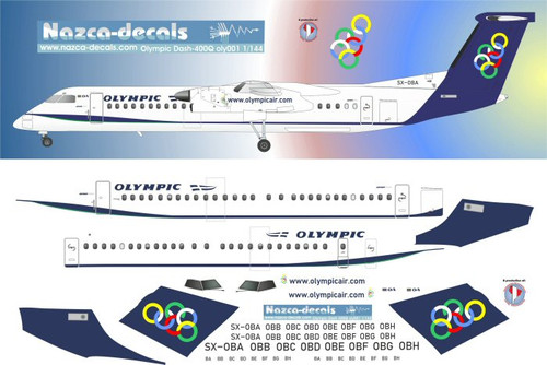 1/144 Scale Decal Olympic Dash-8-400Q
