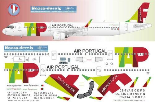 1/144 Scale Decal TAP Air Portugal A-321 NEO XLR