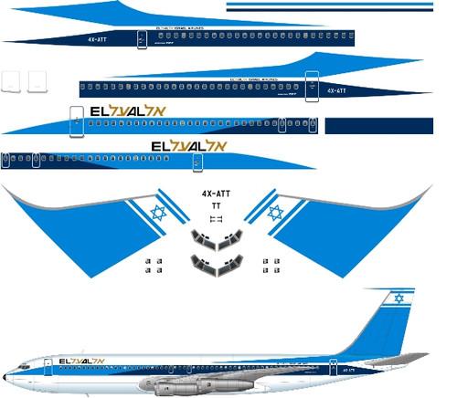 1/200 Scale Decal El Al 707 V2