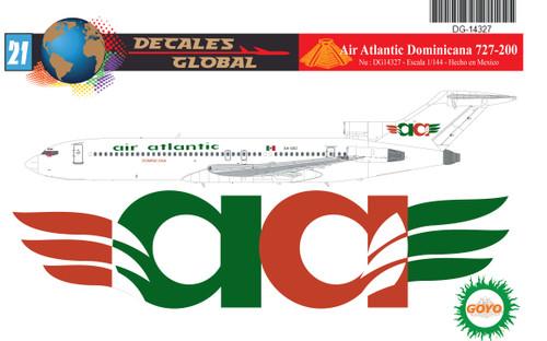 1/144 Scale Decal Air Atlantic Dominicana 727-200
