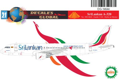 1/144 Scale Decal SriLankan A-320