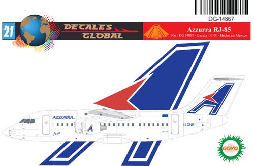 1/144 Scale Decal Azzurra Air RJ-85