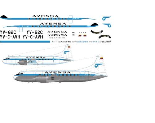 1/500 Scale Decal Avensa Convair 440