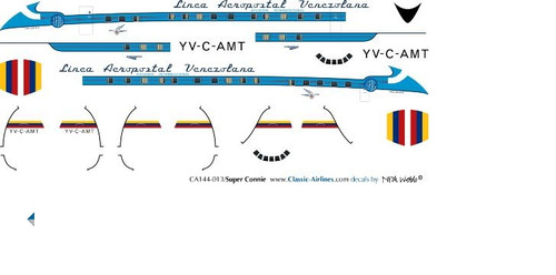 1/500 Scale Decal LAV - Aeropostal Super Constellation