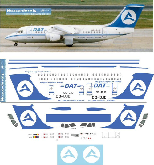 1/144 Scale Decal DAT BAe146-200
