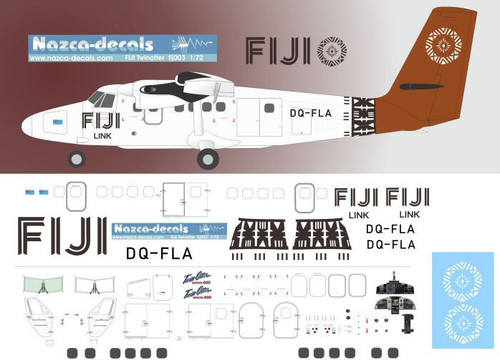 1/144 Scale Decal Fiji Airways Twin Otter
