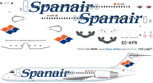 1/144 Scale Decal Spanair B-717