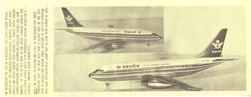 1/144 Scale Decal Saudia Airlines 737-200