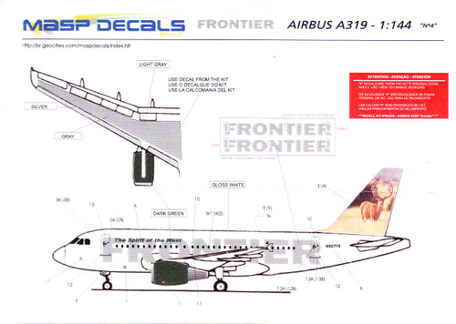 1/144 Scale Decal Frontier A-319 Mel The Mule Deer