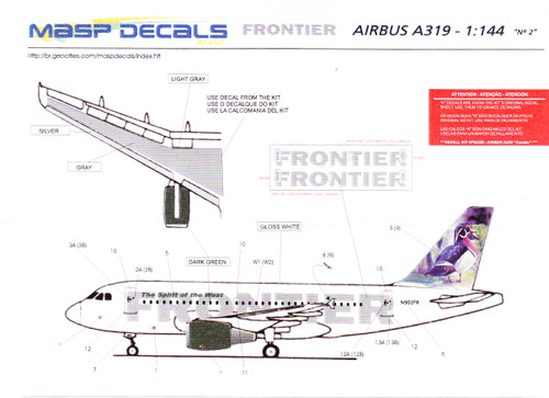 1/144 Scale Decal Frontier A-319 Woody The Woodchuck