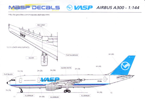 1/144 Scale Decal VASP A-300