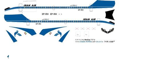 1/100 Scale Decal Iran Air 737-200