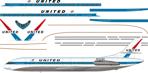 1/144 Scale Decal United Caravelle