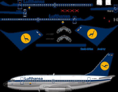 1/144 Scale Decal Lufthansa 737-200