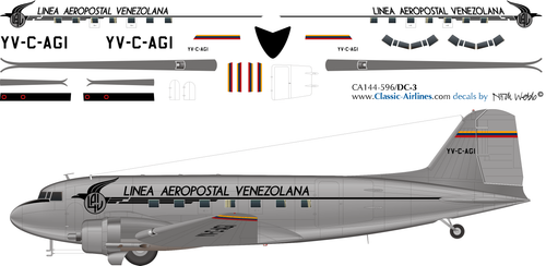 1/144 Scale Decal LAV DC-3