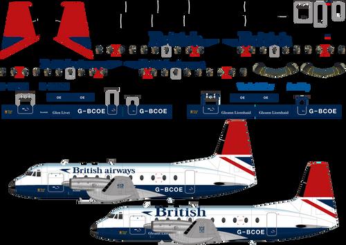 1/144 Scale Decal British Airways HS-748