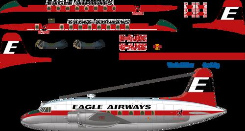 1/144 Scale Decal Eagle Airways Viking 1B