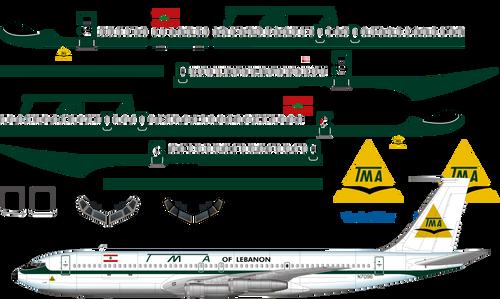 1/144 Scale Decal TMA Cargo 707