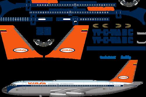 1/144 Scale Decal Viasa CV-880