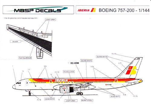 1/144 Scale Decal Iberia Airlines 757-200