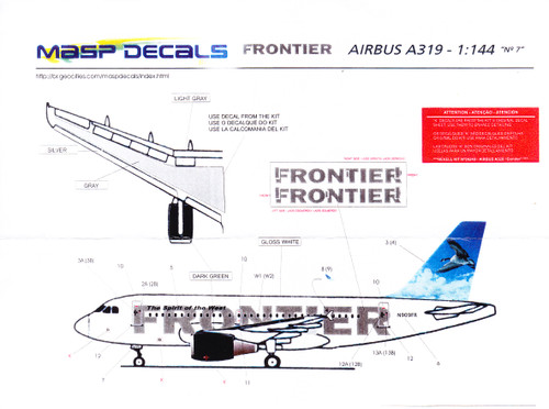 1/144 Scale Decal Frontier A-319 Lucy the Canada Goose