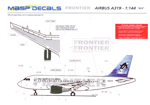 1/144 Scale Decal Frontier A-319 Ozzie the Orca