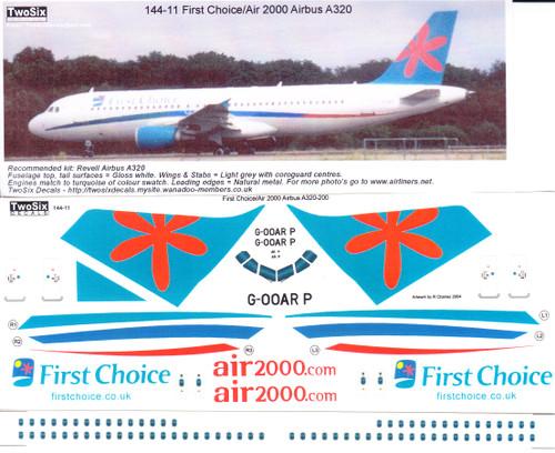 1/144 Scale Decal First Choice / Air 2000 A-320
