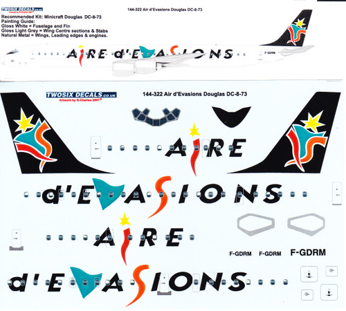 1/144 Scale Decal Air d'Evasions DC8-73