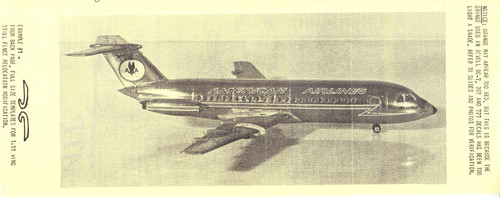 1/144 Scale Decal American BAC-111 / Electra