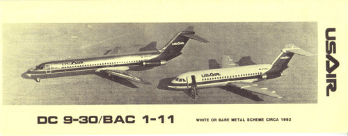 1/144 Scale Decal USAir DC9-30 / BAC-111