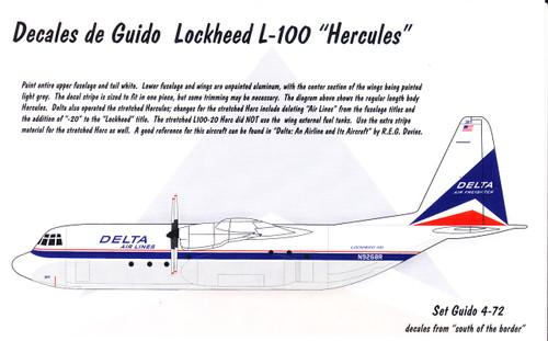 1/72 Scale Decal Delta L-100 (C-130)