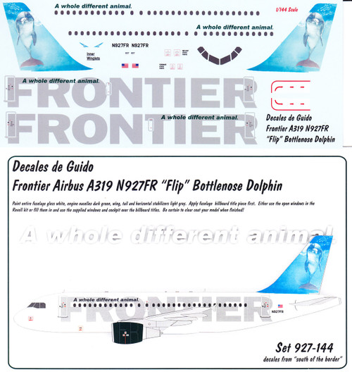 1/144 Scale Decal Frontier A-319 Bottlenose Dolphin