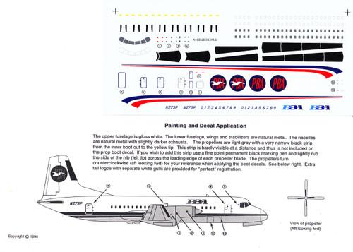 1/144 Scale Decal PBA YS-11