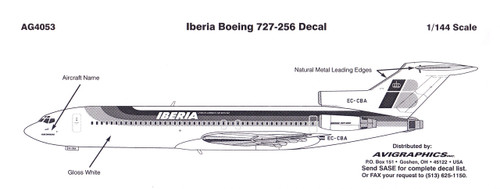 1/144 Scale Decal Iberia 727-200